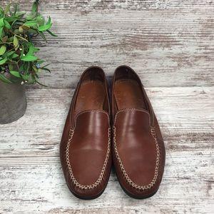 Salvatore Ferragamo Sport Brown Leather Loafer